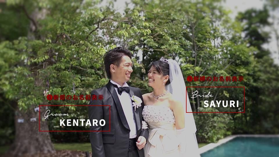 花嫁花婿の名前表示