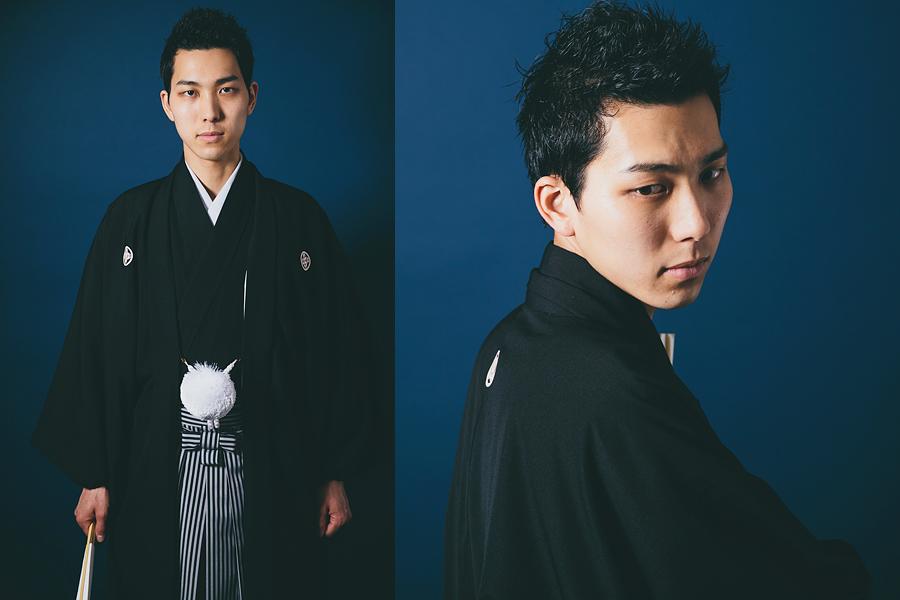 ウェディングスナップカメラマンの紋付羽織袴撮影